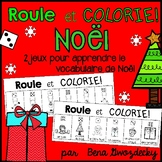 {Roule et Colorie: Les Rennes et Noël!} A French vocabulary game