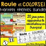 {Roule et Colorie: Monthly Themes Bundle!} A set of 20 Fre