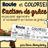 {Roule et Colorie: l'action de grâce!} A French vocabulary game