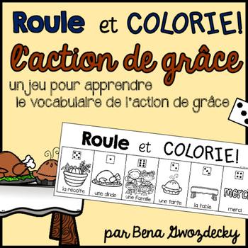 {Roule et Colorie: l'action de grâce!} A French vocabulary game