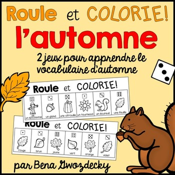 {Roule et Colorie: l'automne!} A French vocabulary game