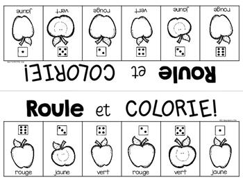 {Roule et Colorie: la rentrée!} A French vocabulary game