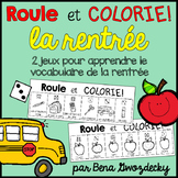 {Roule et Colorie: la rentrée!} A French vocabulary game