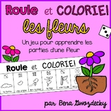 {Roule et Colorie: les fleurs!} A French vocabulary game
