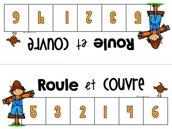 {Roule et Couvre: l'automne!} A Fall-themed Math game in French