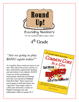 """""""Round Up!""""  to the Millions Place Value 4th Common Core Grade Game Packet"""