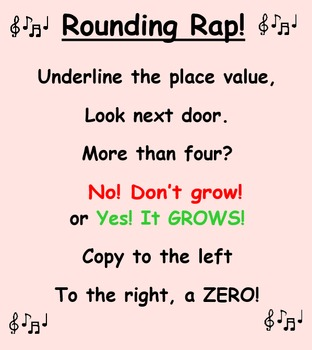 """""""Rounding Rap!"""" - Rounding to the Nearest Tens and Hundred"""