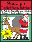 Christmas ELA Activities: Rudolph the Red-Nosed Reindeer Activities - Color
