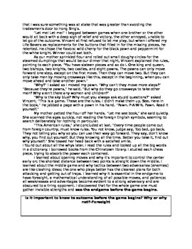 """""""Rules of the Game"""" Amy Tan  Guided Reading"""
