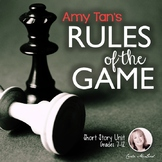 Rules of the Game by Amy Tan: 30+ Page Short Story Unit