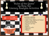 """Rules of the Game"" by Amy Tan (from Joy Luck Club) - 3-5"