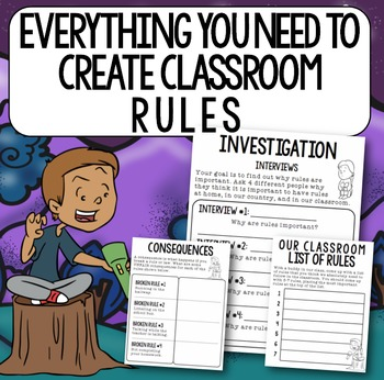"""Rules of the House"" Back to School Book Study: Classroom Rules"