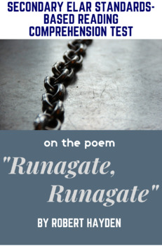 """Runagate Runagate"" Poem by Robert Hayden Poetry Reading Comprehension Test"