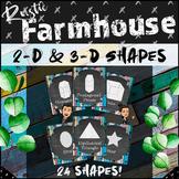*Rustic* Farmhouse Theme   2D & 3D Shape Posters!