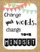 ~Rustic~ Growth Mindset Poster Set