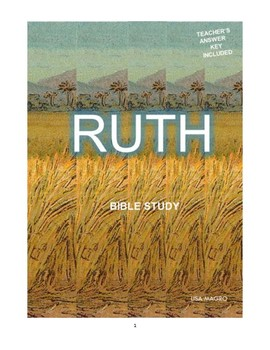 Ruth Simple Bible Study  (Chs. 1-4)  - No Prep with Teacher's Answer Key