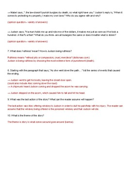 """""""Ruthless"""" by William de Mille short story questions"""
