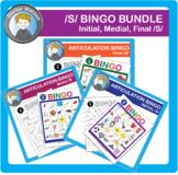 /S/ Articulation Bingo Bundle (Initial, Medial, Final /s/)