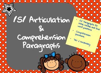 /S/ Articulation, Comprehension and Vocabulary Paragraphs