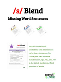 /S/ Blend Missing Word Sentences