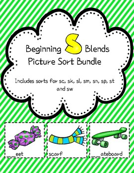 """S"" Blends Picture Sort Bundle"