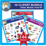 /S/ Words Clipart Bundle (initial, medial, final) 144 images