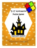 """""""S, Z"""" Articulation Puzzle Pack: Halloween Theme"""