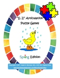 """""""S, Z"""" Articulation Puzzle Pack: Spring Theme"""