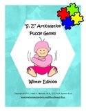 """""""S, Z"""" Articulation Puzzle Pack: Winter Theme"""