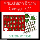 /S/ and /S/-Blends Articulation Board Games - Christmas Theme