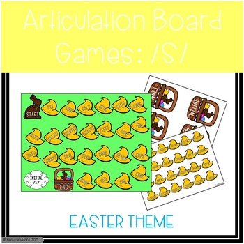 /S/ and /S/-Blends Articulation Board Games - Easter Theme