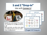 "'S and Z' Sound ""Drop-In"" Articulation Game (Use with Connect 4)"