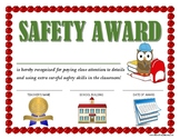 """""""SAFETY AWARD"""" for Primary School Kids!  CLASSROOM AWARD SERIES"""