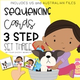 Three / 3 step sequencing picture cards / stories