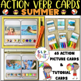 ACTION VERB CARDS - SUMMER (REAL PICTURES) EXPANDING UTTERANCES