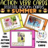 ACTION VERB REAL PICTURE CARDS - SUMMER, DIGITAL BOOM CARDS