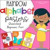 Alphabet Classroom Posters // Australian Queensland Beginners Font