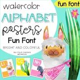 Tropical Classroom Decor Alphabet Classroom Posters // US Fun Font!