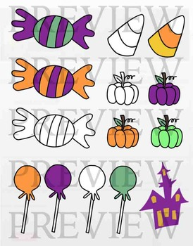 HALLOWEEN CLIP ART! Colored + Black and White Halloween Images