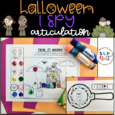 I SPY, HALLOWEEN (ARTICULATION) WITH MAGNIFYING GLASS (SPEECH THERAPY)