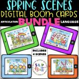 SPRING & EASTER 4 SCENE DIGITAL BOOM CARD BUNDLE, ARTICULATION & LANGUAGE