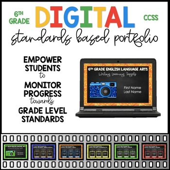 Digital Standards Based Portfolio PDF For Google Slides™ - 6th Grade ELA
