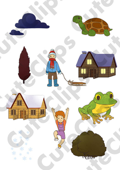 *SAMPLE* Cute Clips Bundle: Kids, Characters, Animals, Weather & MORE