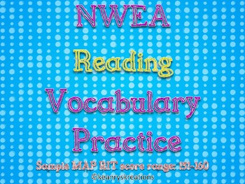 *SAMPLE* NWEA Reading Vocabulary Practice (RIT Range: 151-160)