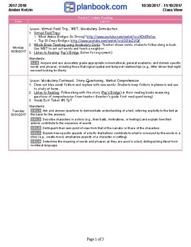 *SAMPLE* Two Week Lesson Plans Using Journeys Supplements