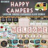 Camping Classroom Theme Decor Bundle Editable