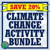 Global Warming Climate Change Activity Bundle NGSS MS-ESS3-5 ESS3-4