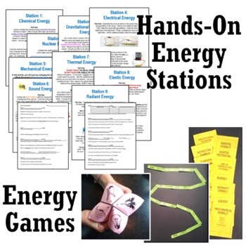 *SAVE 30%*  NGSS Energy Activity BUNDLE For Middle School - Set of 5