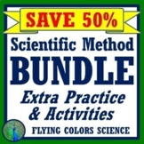 **SAVE OVER 30%** Middle School Scientific Method Worksheet & Activity BUNDLE
