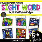 Color by Sight Word | Polar Express | Christmas Activities | Fifth Grade